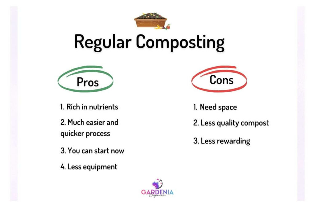 Pros and cons of regular composting