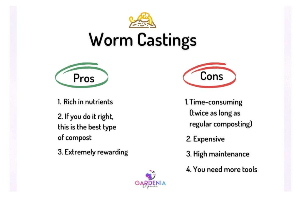 Worm castings pros and cons