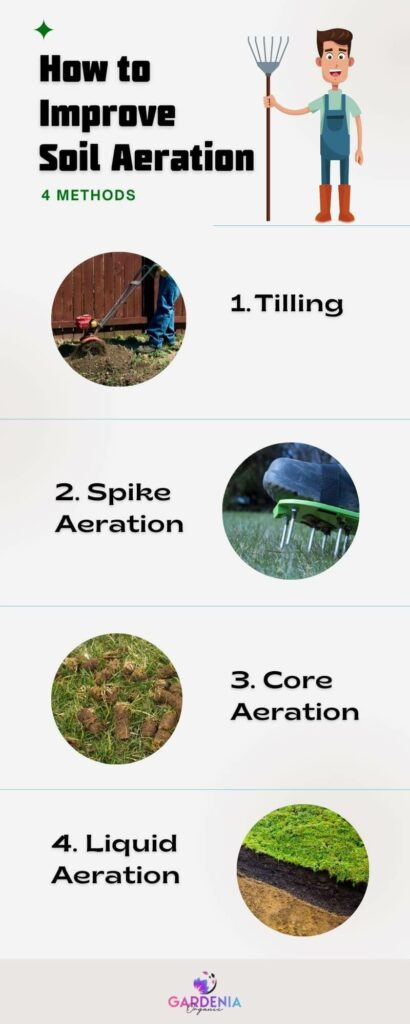 Infographic on how to improve soil aeration